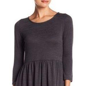 Sweater Knit 3/4 Length Sleeve Dress
